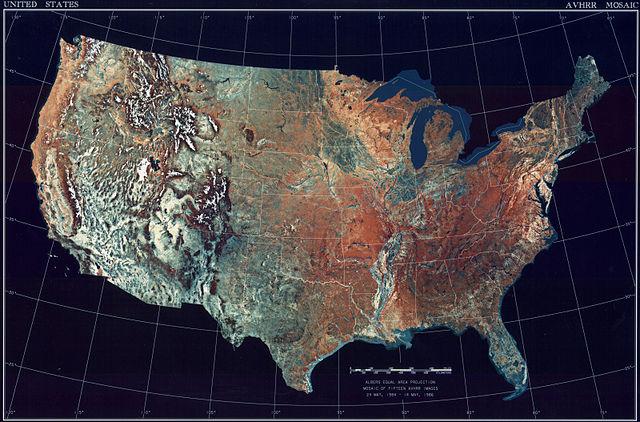 USA Topografiskkarta